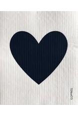 Ten & Co Big Love Black on White Sponge Cloth