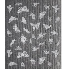 Ten & Co Bugs Grey/White Sponge Cloth