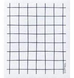 Ten & Co Grid Black Sponge Cloth
