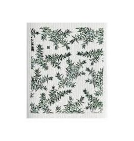 Ten & Co Juniper Greens on White Sponge Cloth