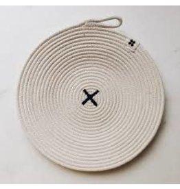 Ten & Co Large Rope Black X Trivet