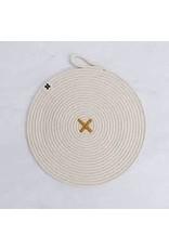 Ten & Co Large Rope X Trivet Ochre