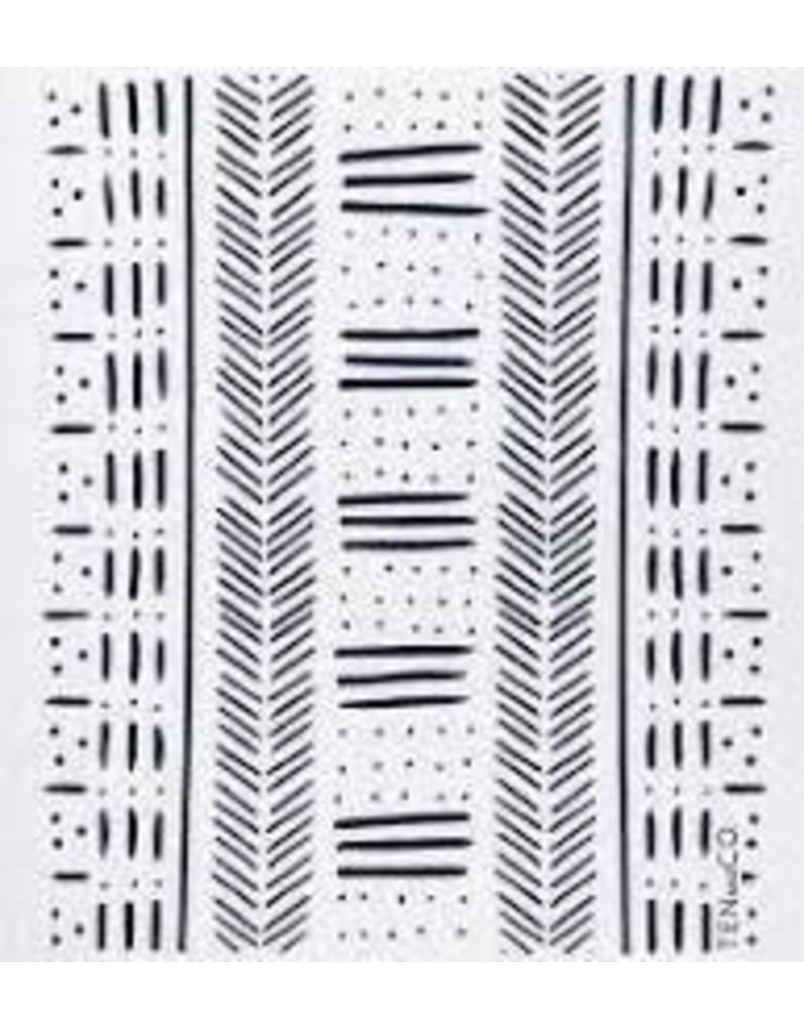 Ten & Co Mudcloth Black Sponge Cloth