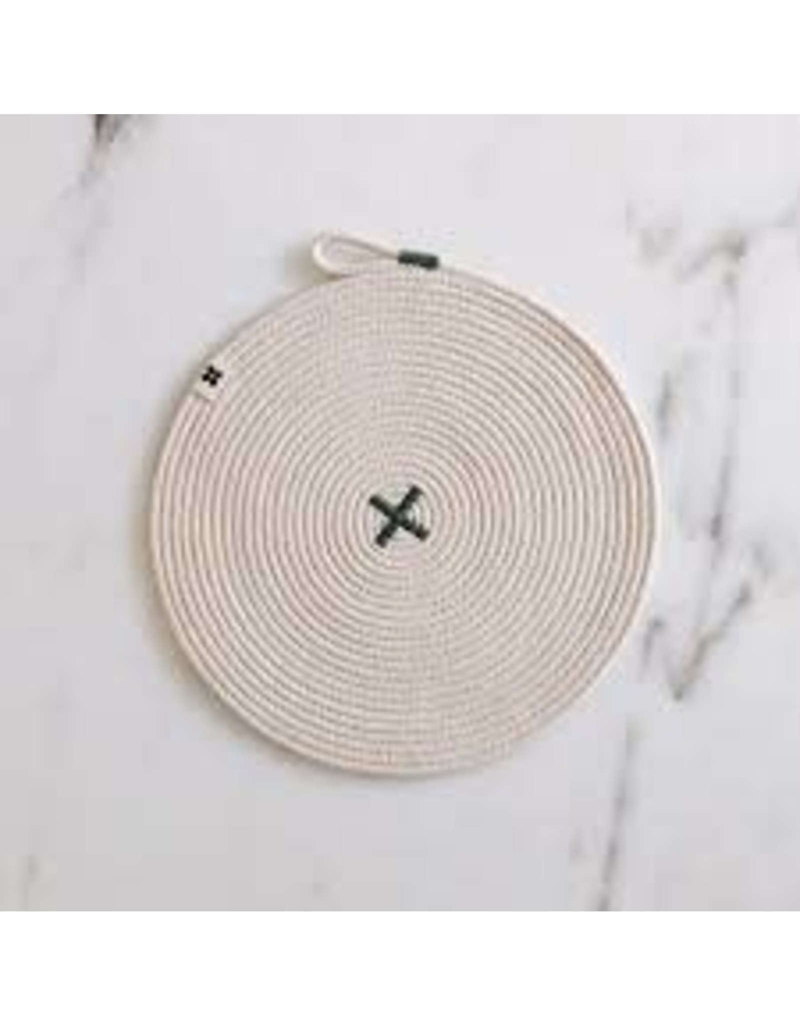 Ten & Co Large Rope X Trivet Sage