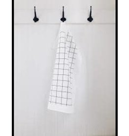 Ten & Co Tea Towel Grid (Black on White)