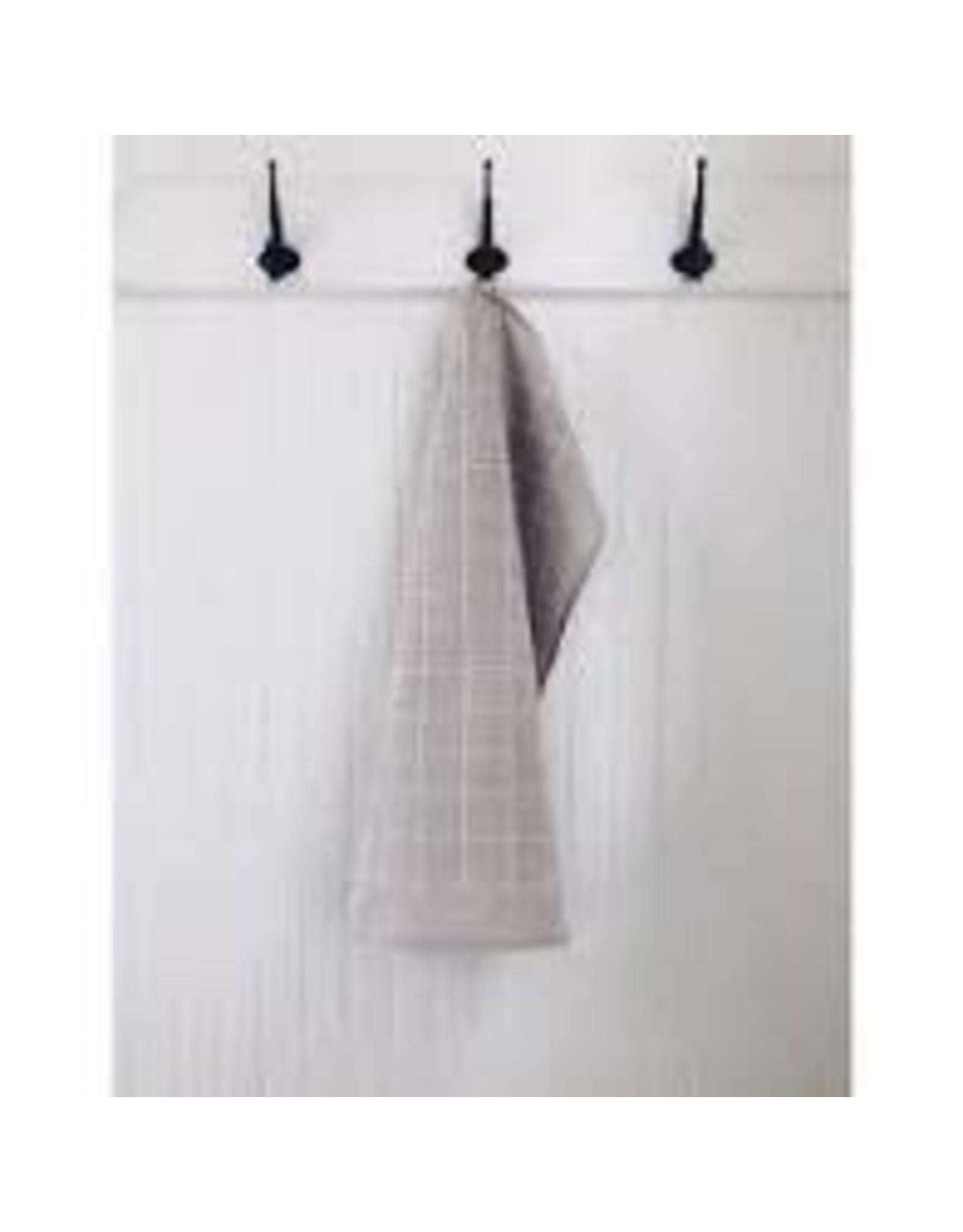 Ten & Co Tea Towel Grid (White on Warm Grey)