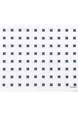 Ten & Co Tiny X+ Sponge Cloth (white on grey) LARGE