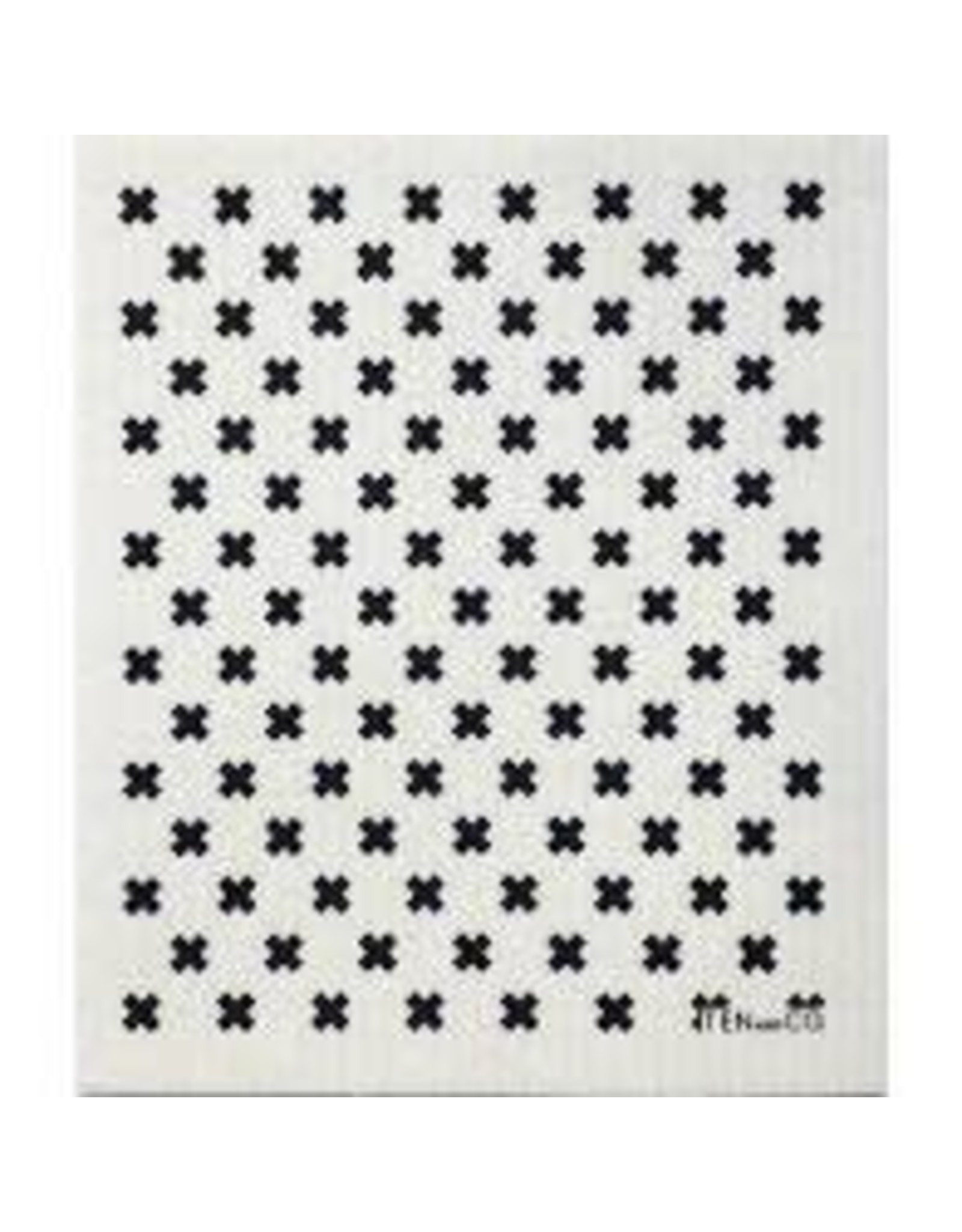 Ten & Co Tiny X Black Sponge Cloth