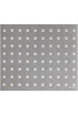 Ten & Co Tiny X Grey/White Sponge Cloth