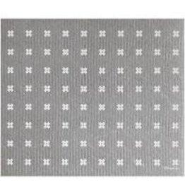 Ten & Co Tiny X Grey/White Sponge Cloth