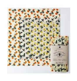 Ten & Co Vintage Fruit Beeswax Wrap 3-Pack