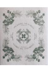 Ten & Co Vintage Floral Sage Sponge Cloth