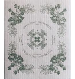 Ten & Co Vintage Floral Sage Sponge Cloth