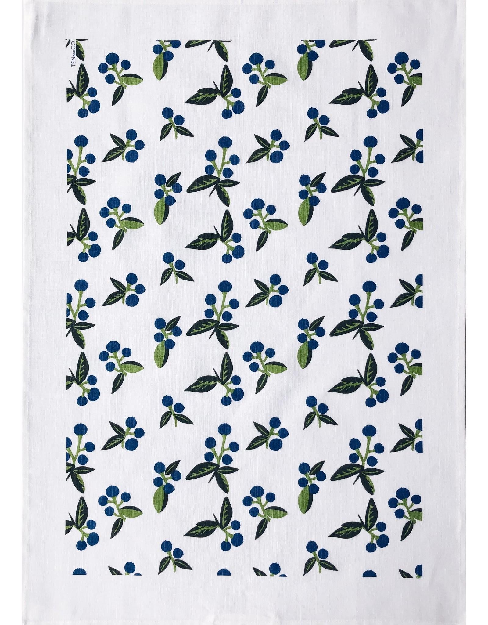 Ten & Co Tea Towel Wild Blueberry
