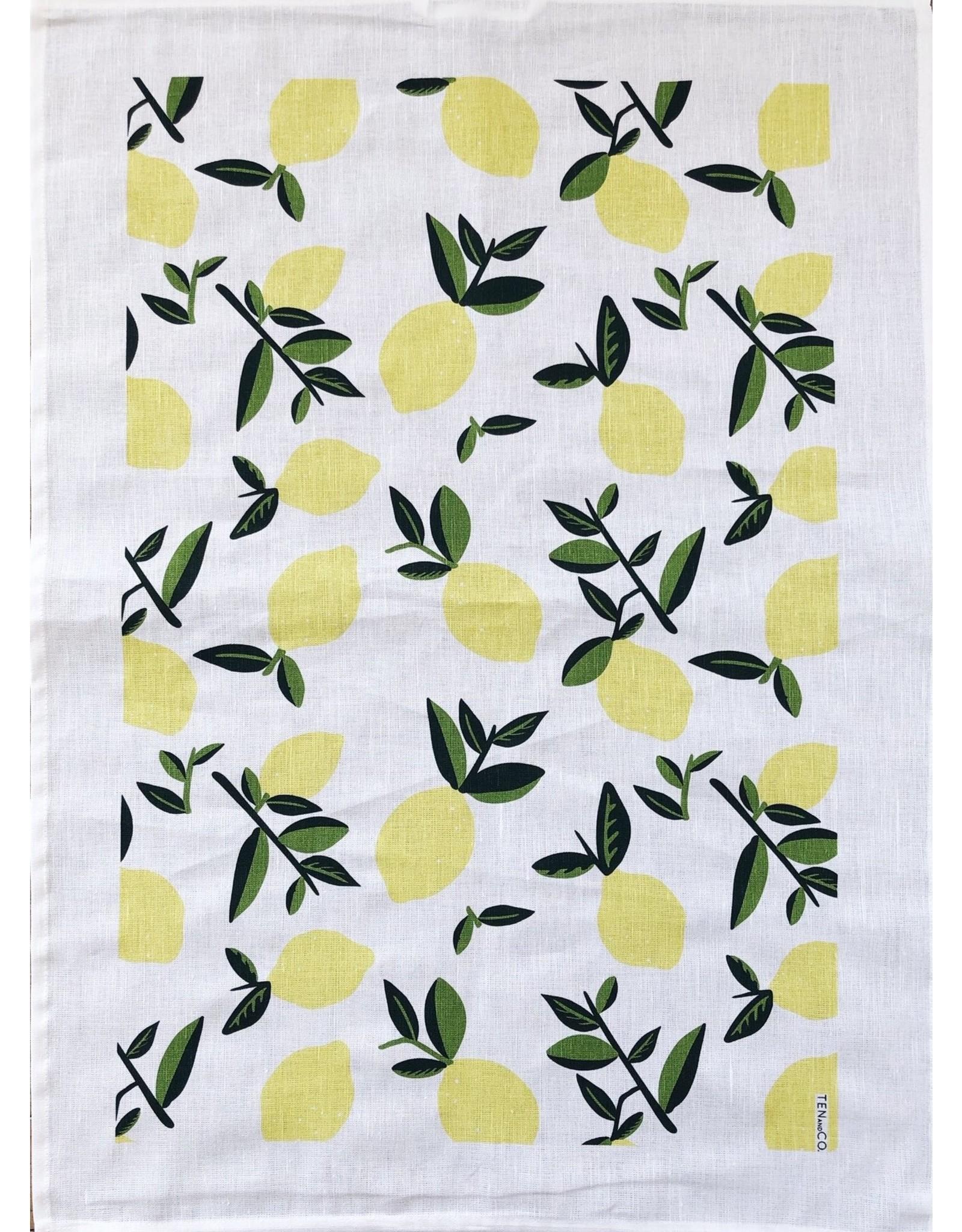 Ten & Co Tea Towel Citrus Lemon