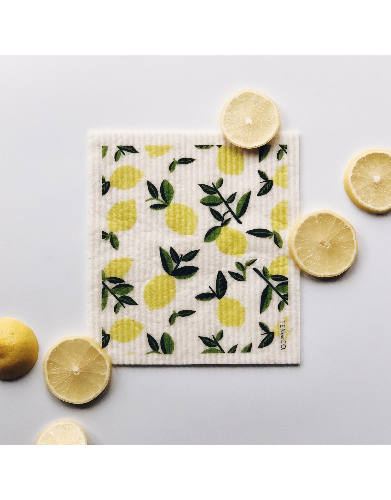 Ten & Co SMALL Citrus Lemon Sponge Cloth