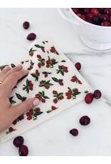 Ten & Co Cranberry Sponge Cloth