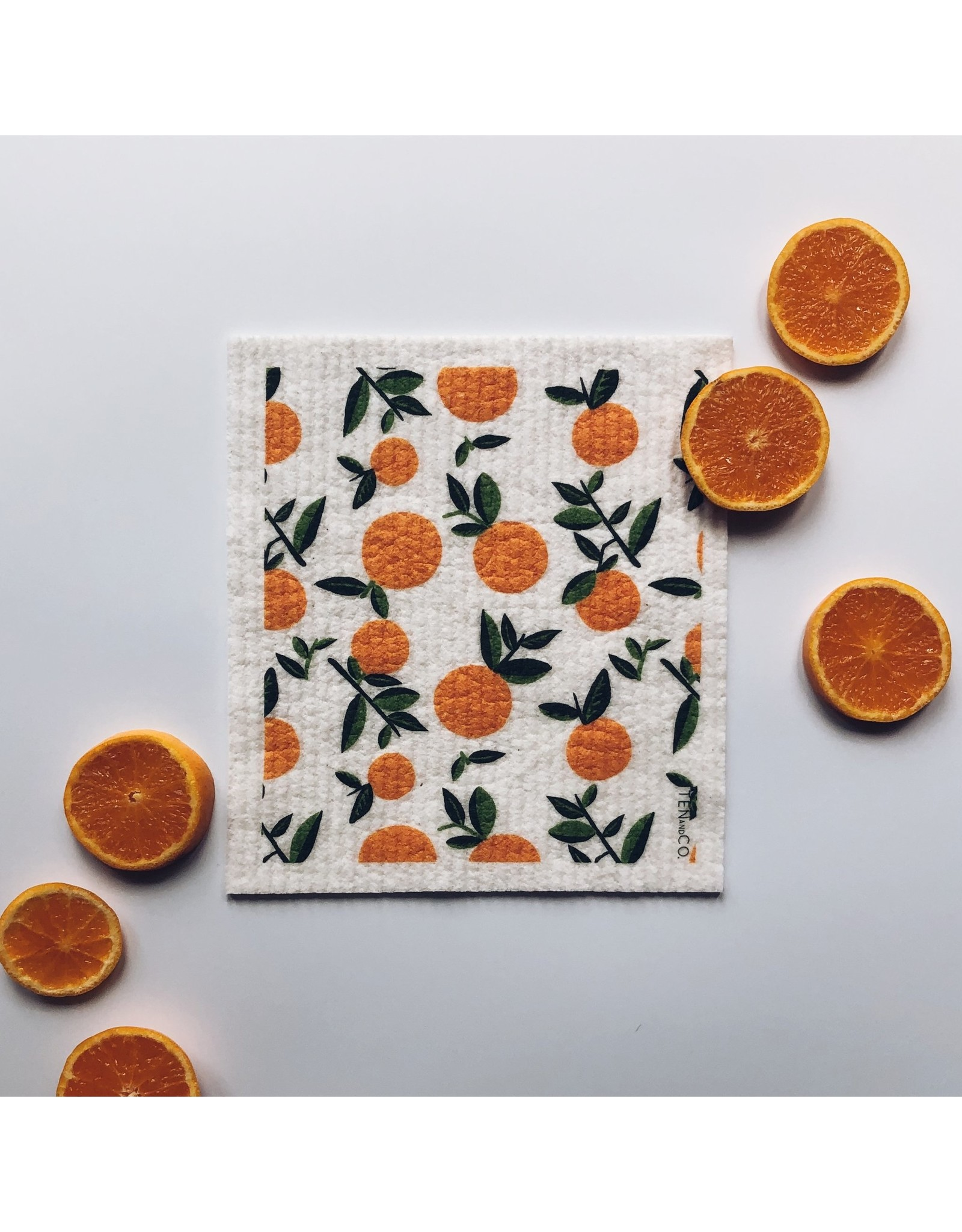 Ten & Co Citrus Orange Sponge Cloth