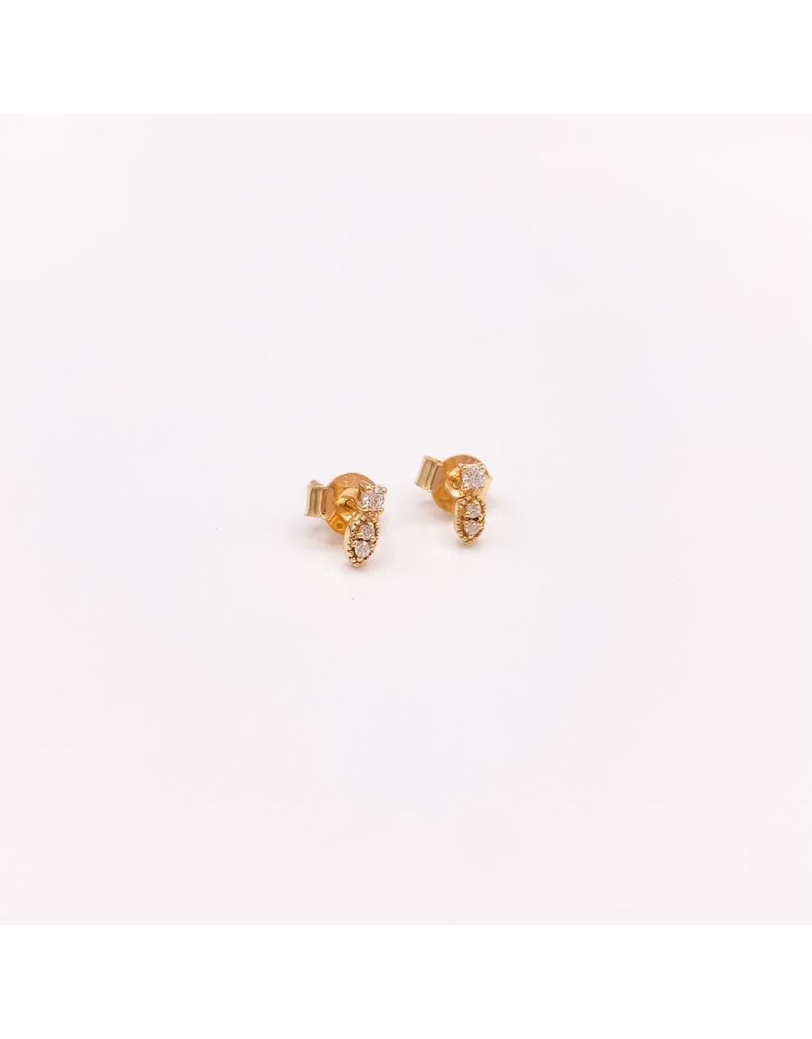 Jewelry By Amanda Gold Romeo Studs - Earrings