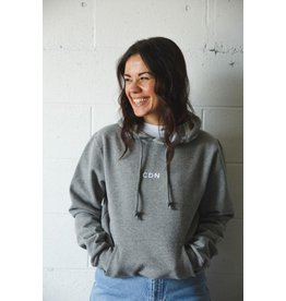 CDN Unisex Athletic Grey Cotton Stitch Hoodie