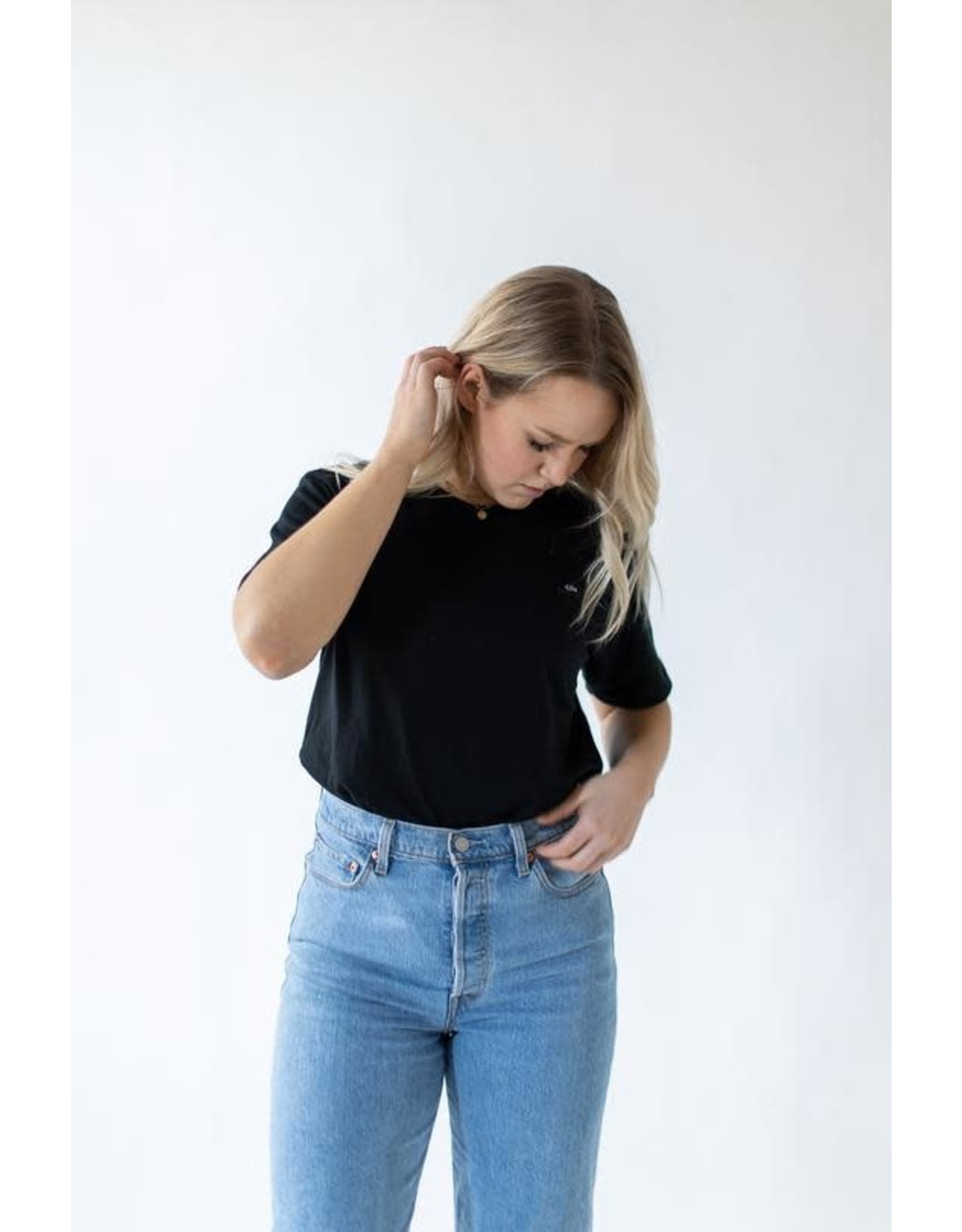 CDN Unisex Black Cotton Patch Tee