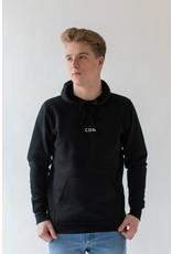 CDN Unisex Black Cotton Stitch Hoodie