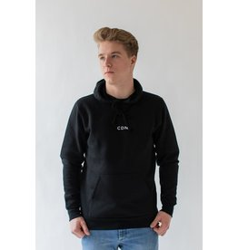 CDN Unisex Black Cotton Stitch Hoodie