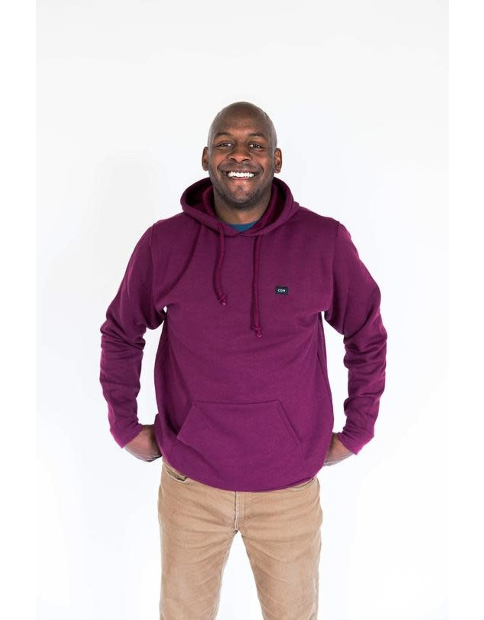 CDN Unisex Maroon Cotton Patch Hoodie