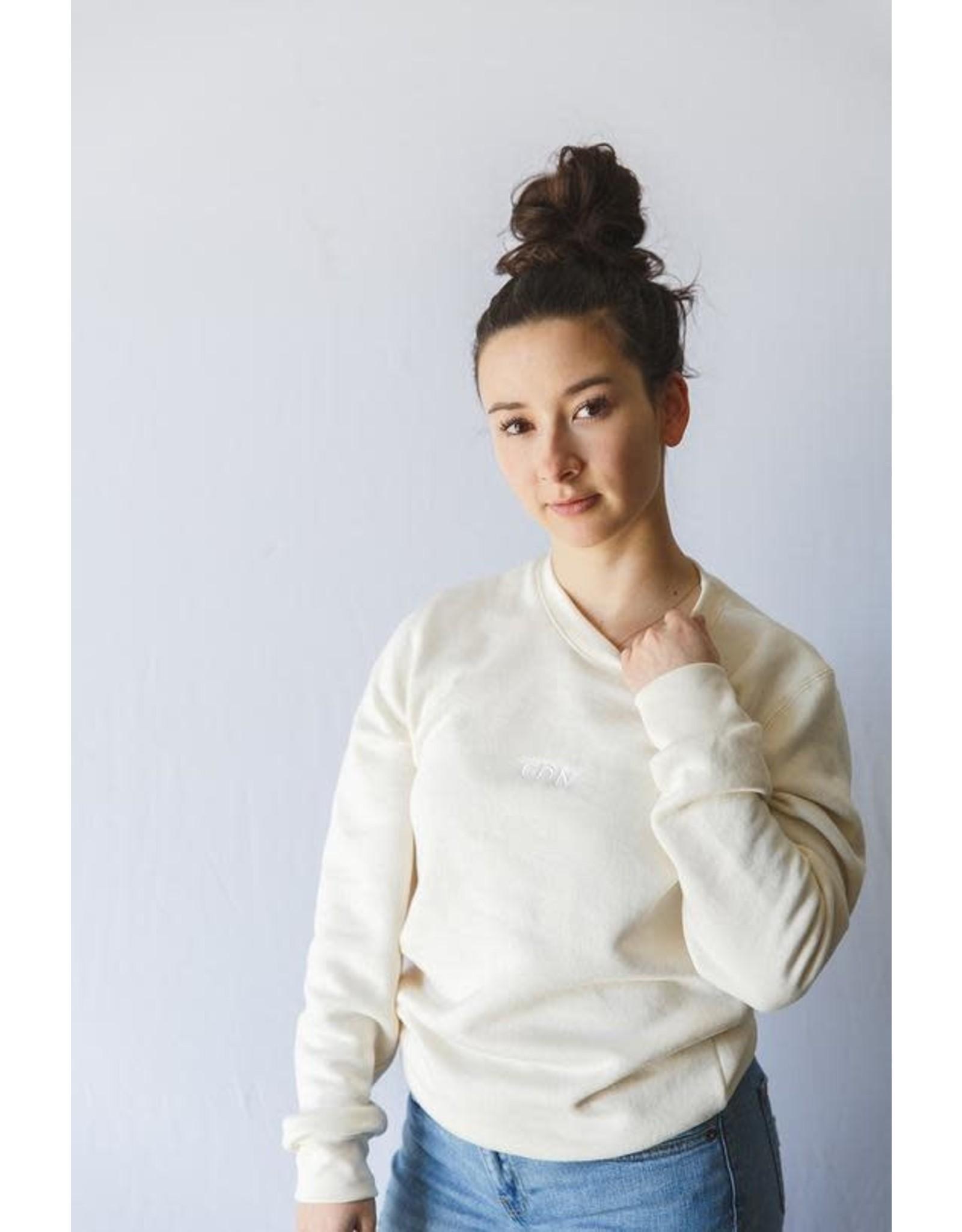 CDN Unisex Oatmeal Bamboo Stitch Crewneck - Sweater