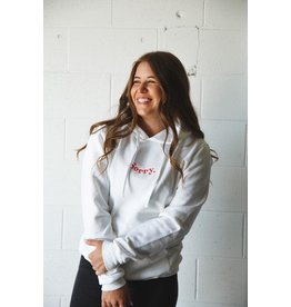 CDN Unisex White 'Sorry' Cotton Hoodie