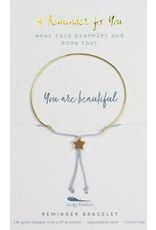 Lucky Feather Reminder Bracelet - Gold