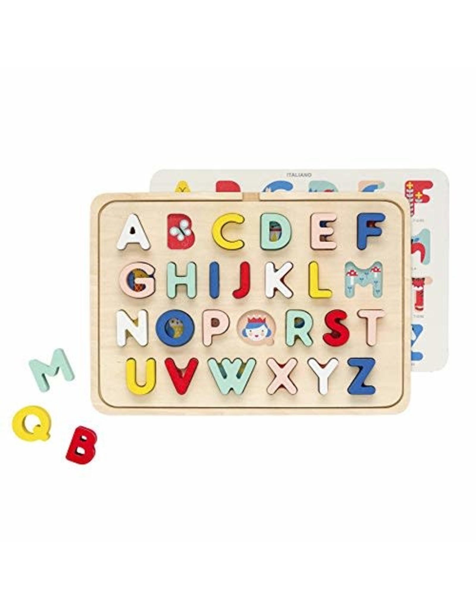 Multi-Language Alphabet Wooden Tray Puzzle