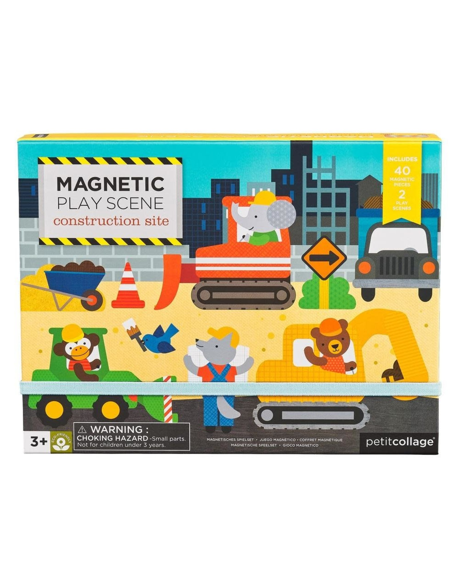 Magnetic Play Scene: Construction