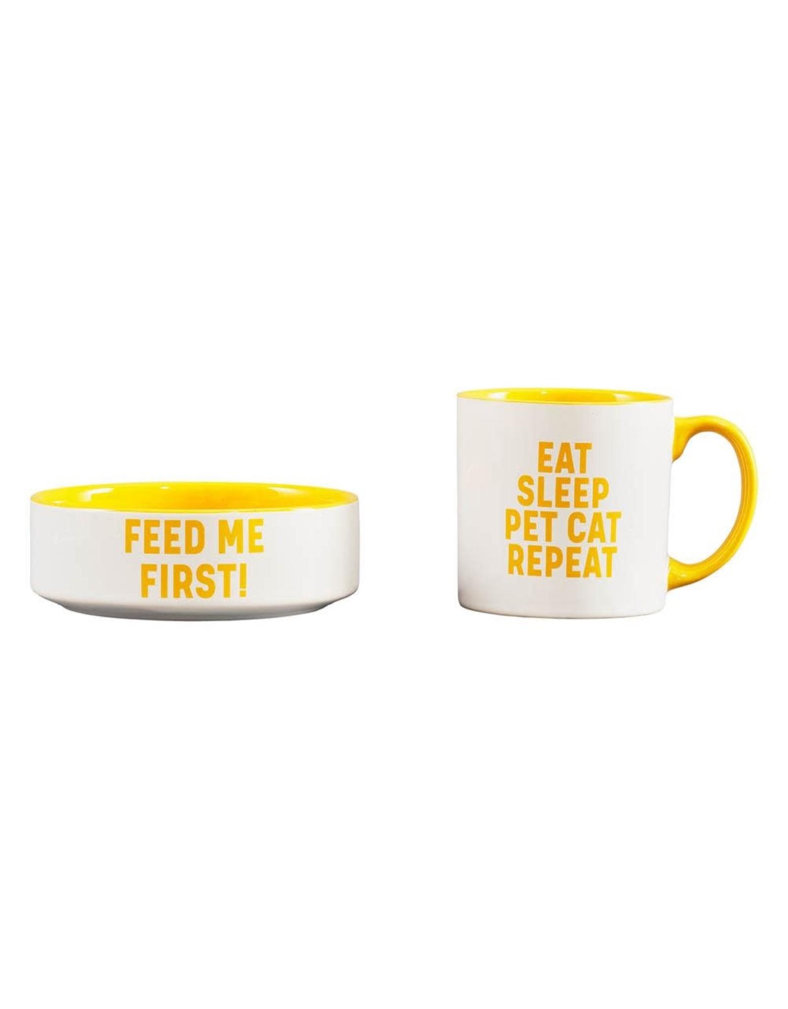 Mug and Bowl Cat Set