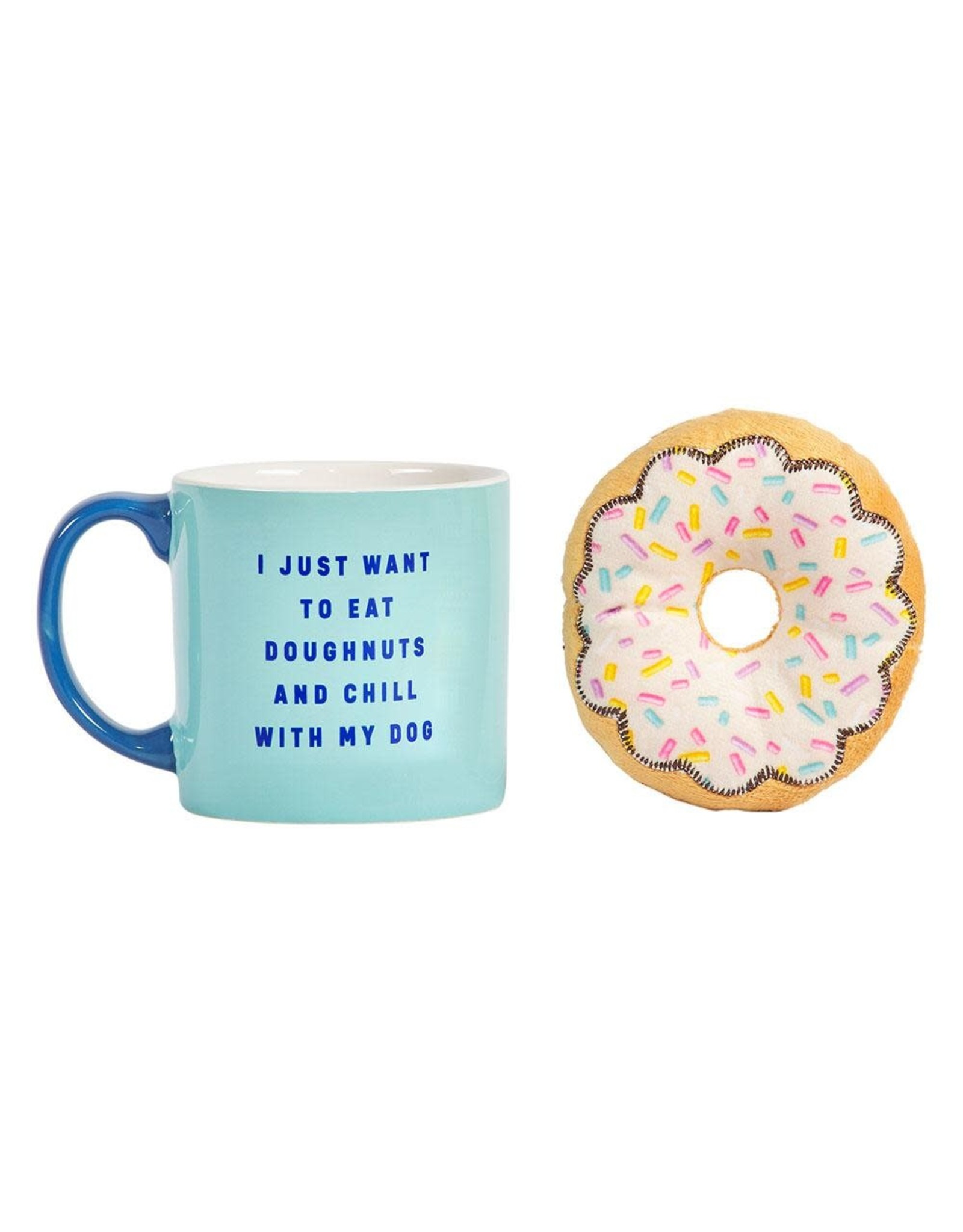 Mug and Doughnut Dog Toy