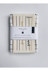 Ten & Co Falala Black and Gold - Sponge Cloth & Tea Towel Gift Set