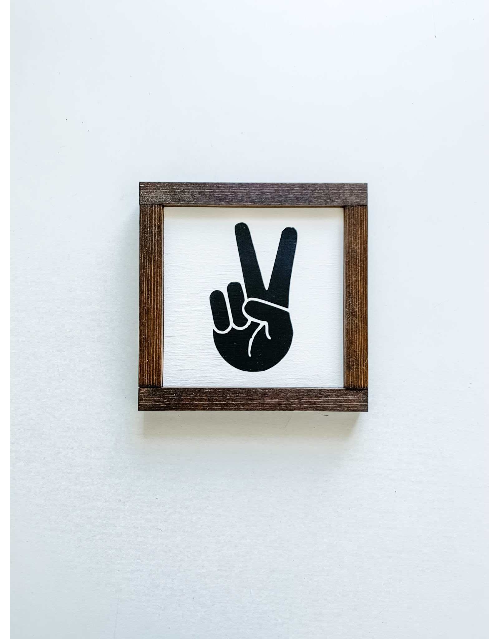 Hazel Collection Peace Sign 7.5 x 7.5