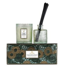 Voluspa French Cade Lavender - Scalloped Candle & Diffuser Gift Set