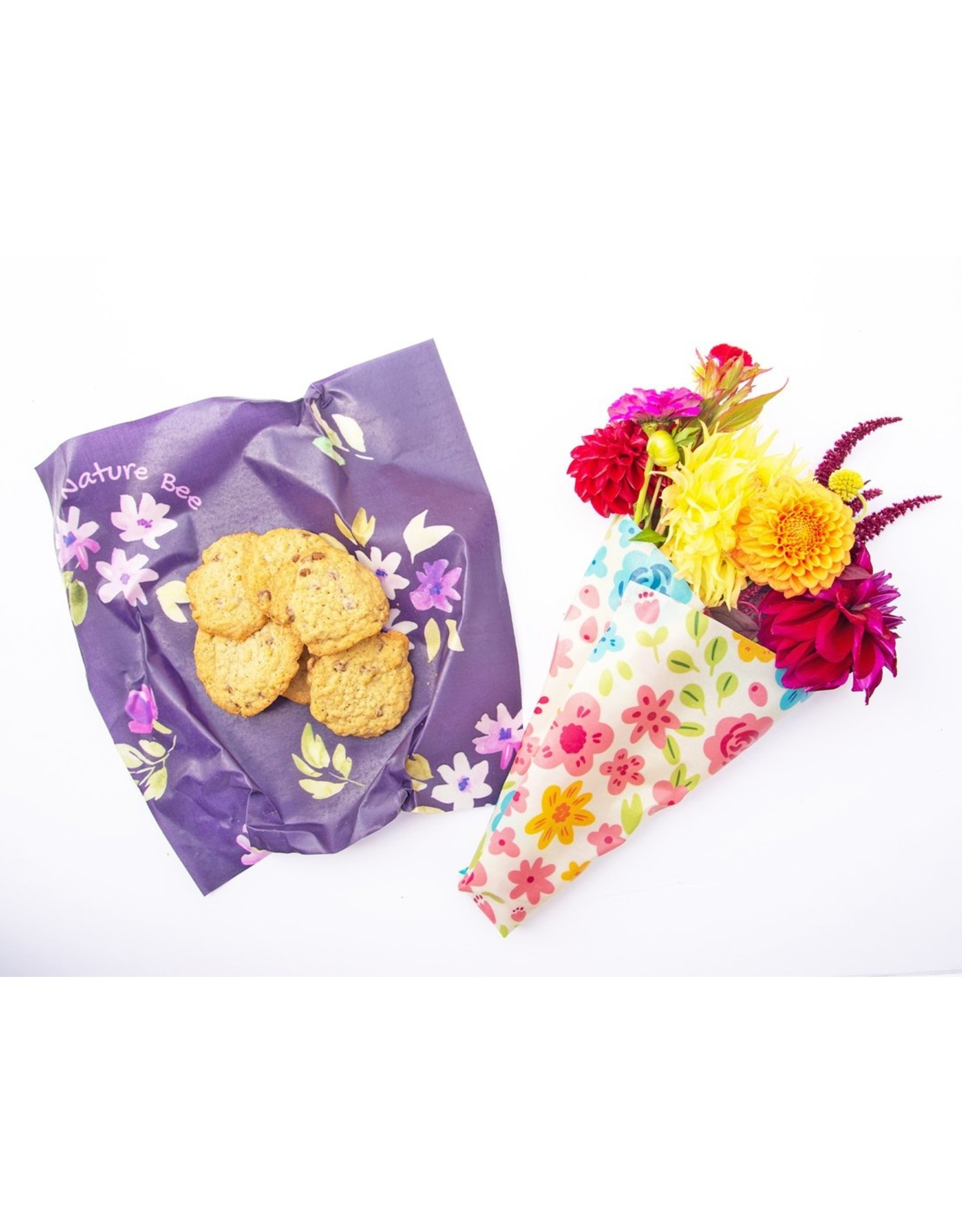 Flowers Large 2 Pack - Beeswax Wraps