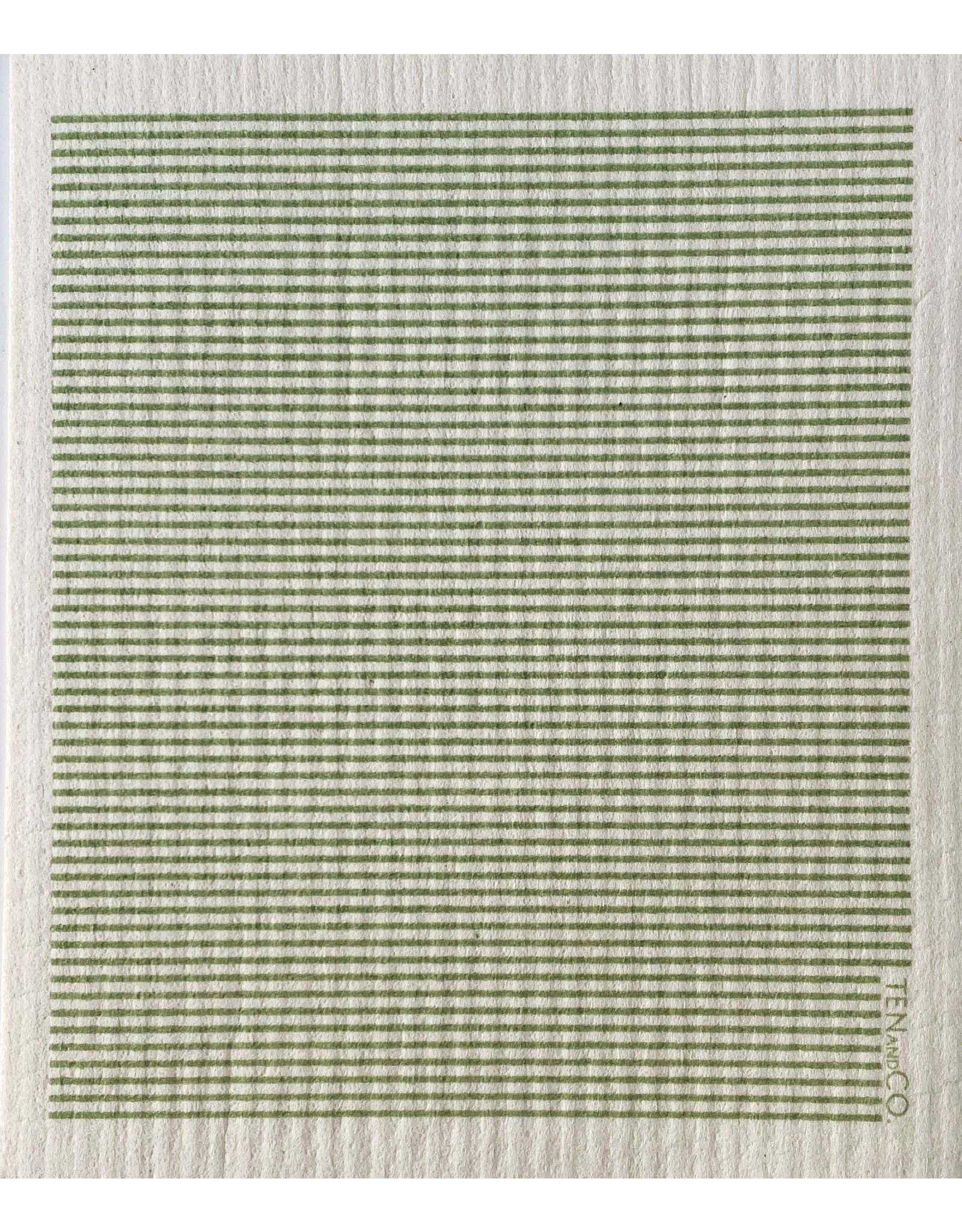 Ten & Co Stripe Sage Sponge Cloth