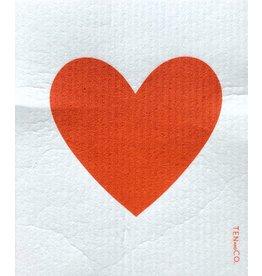 Ten & Co Big Love Red Sponge Cloth