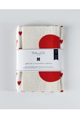 Ten & Co Gift Set- Lots of Love Bright Red