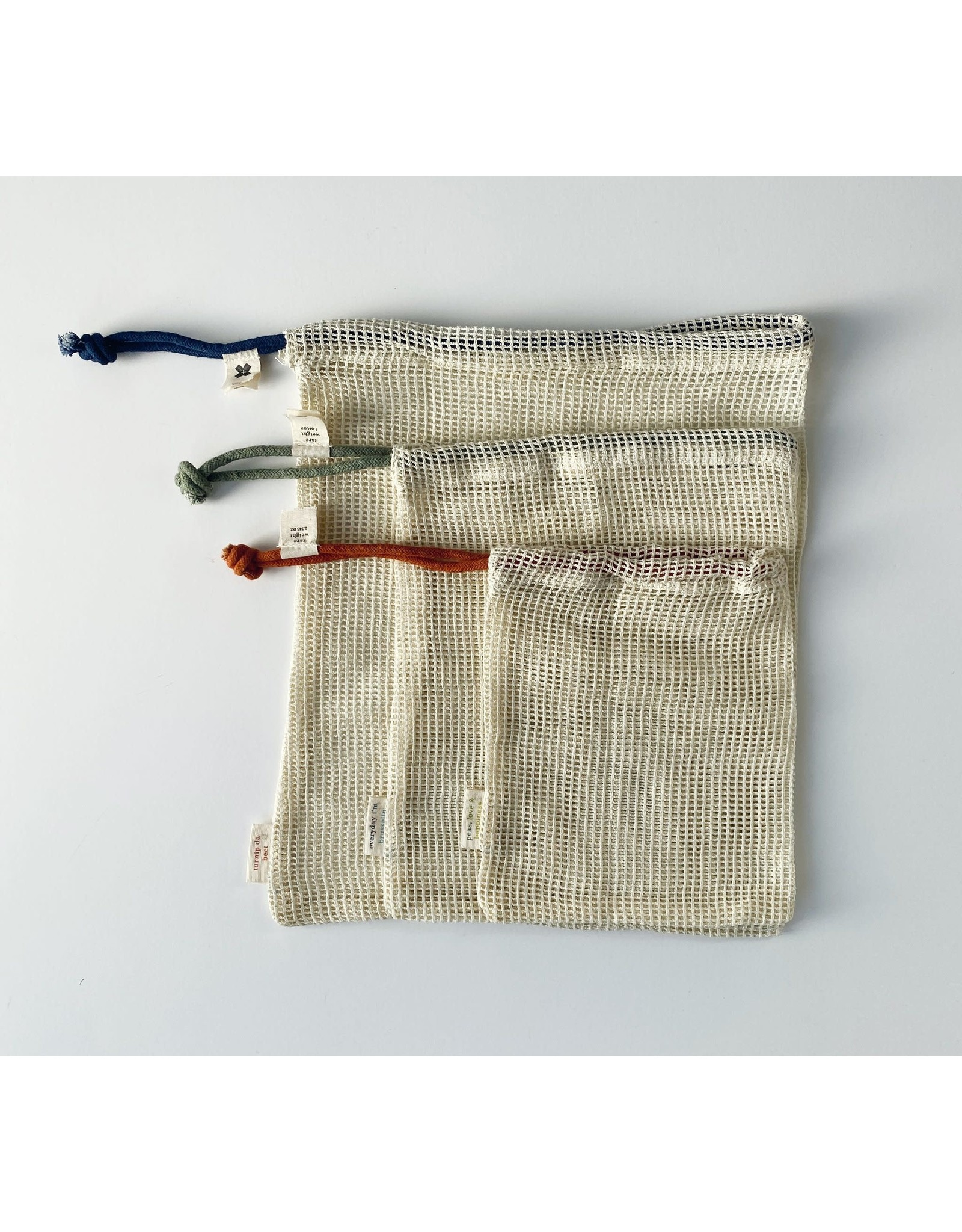 Ten & Co Produce Bag- Set of 3 Plus Zipped Pouch