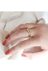 Melanie Auld Mini Signet Ring - 14 Kt Gold Vermeil- sz 5