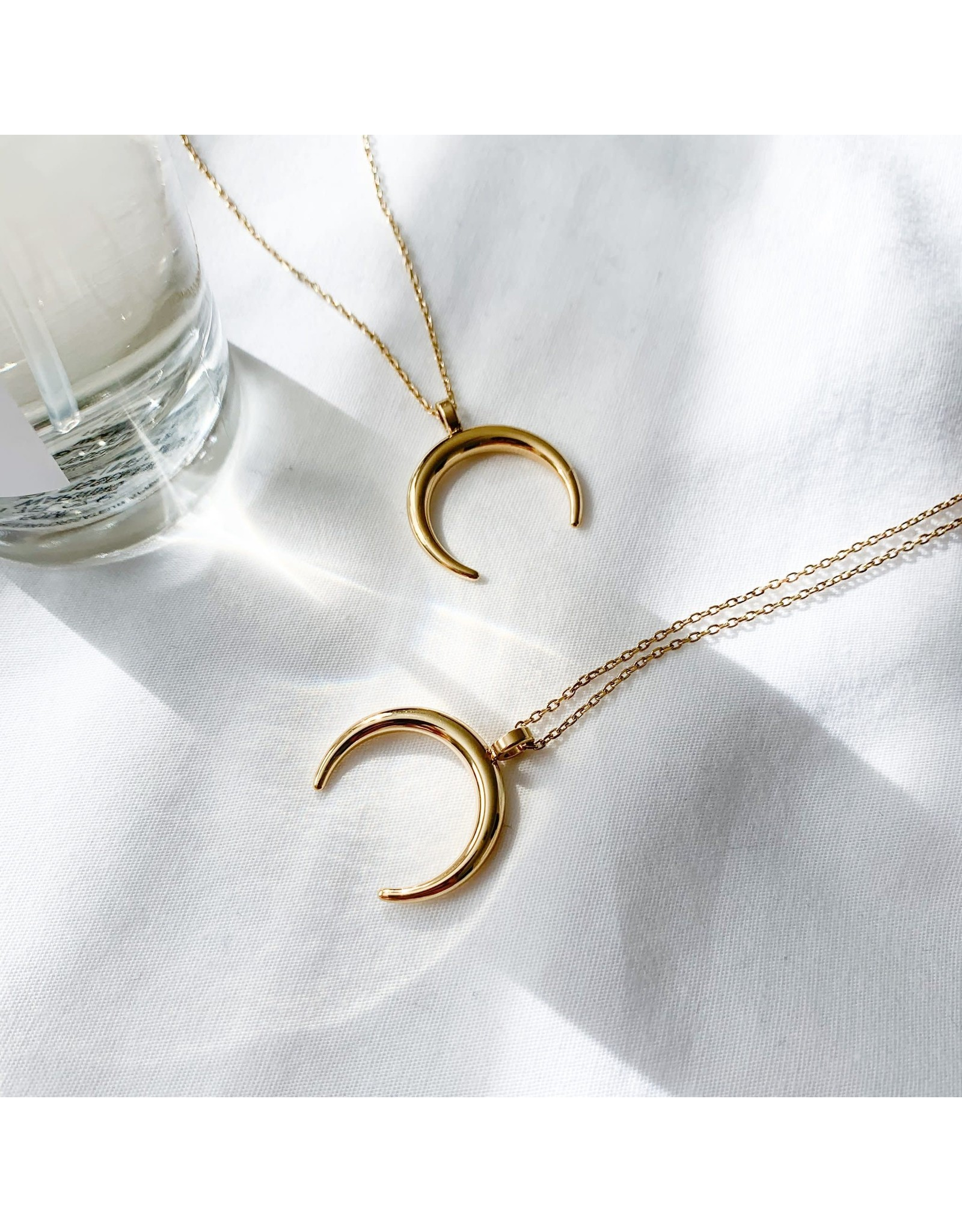 Gold Half Moon Necklace