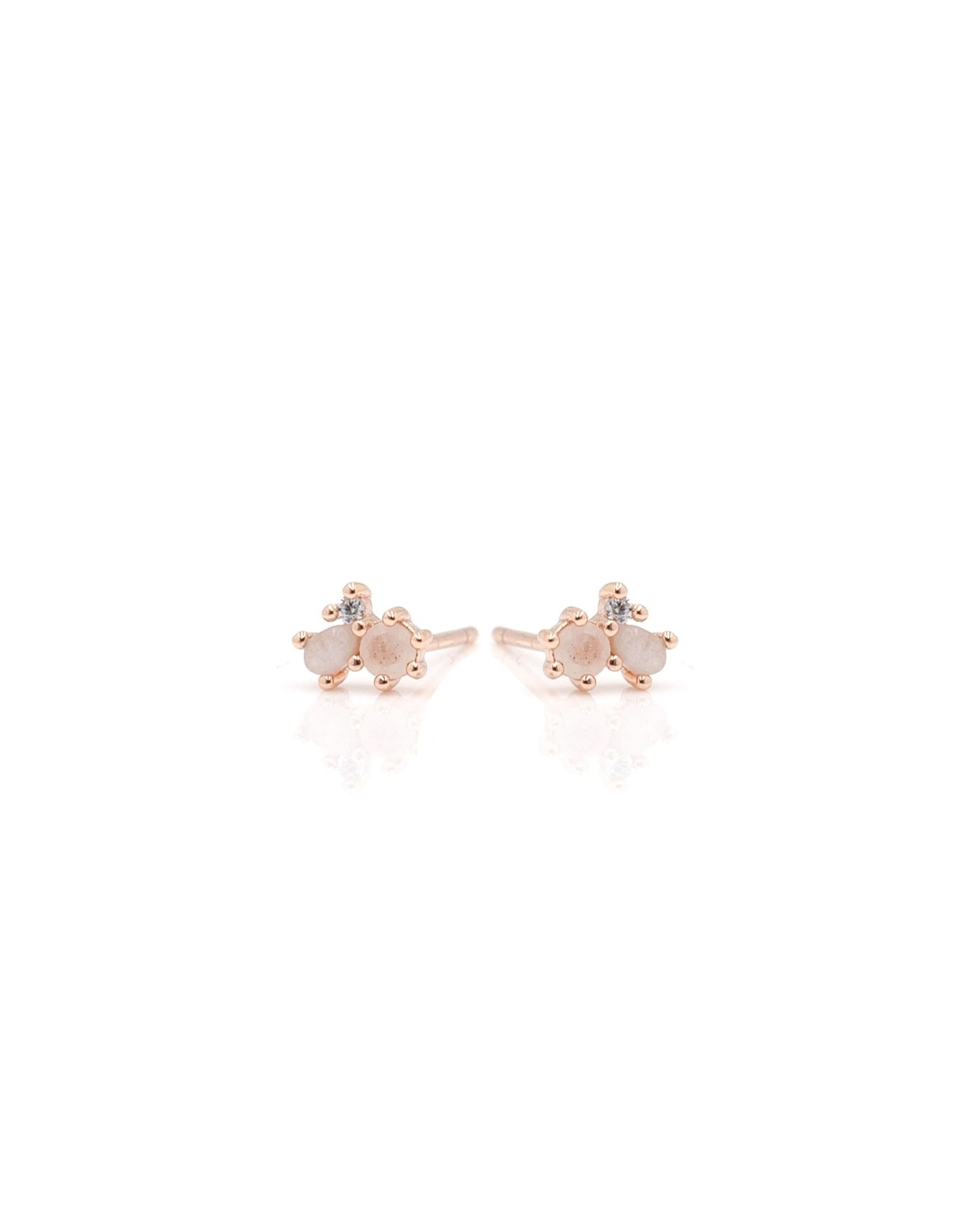 "eLiasz and eLLa ""Dash"" Earrings in Rose Gold"