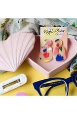 Night Moves Atelier Earrings- Maude 60's Arch - Fruit Punch Terrazzo