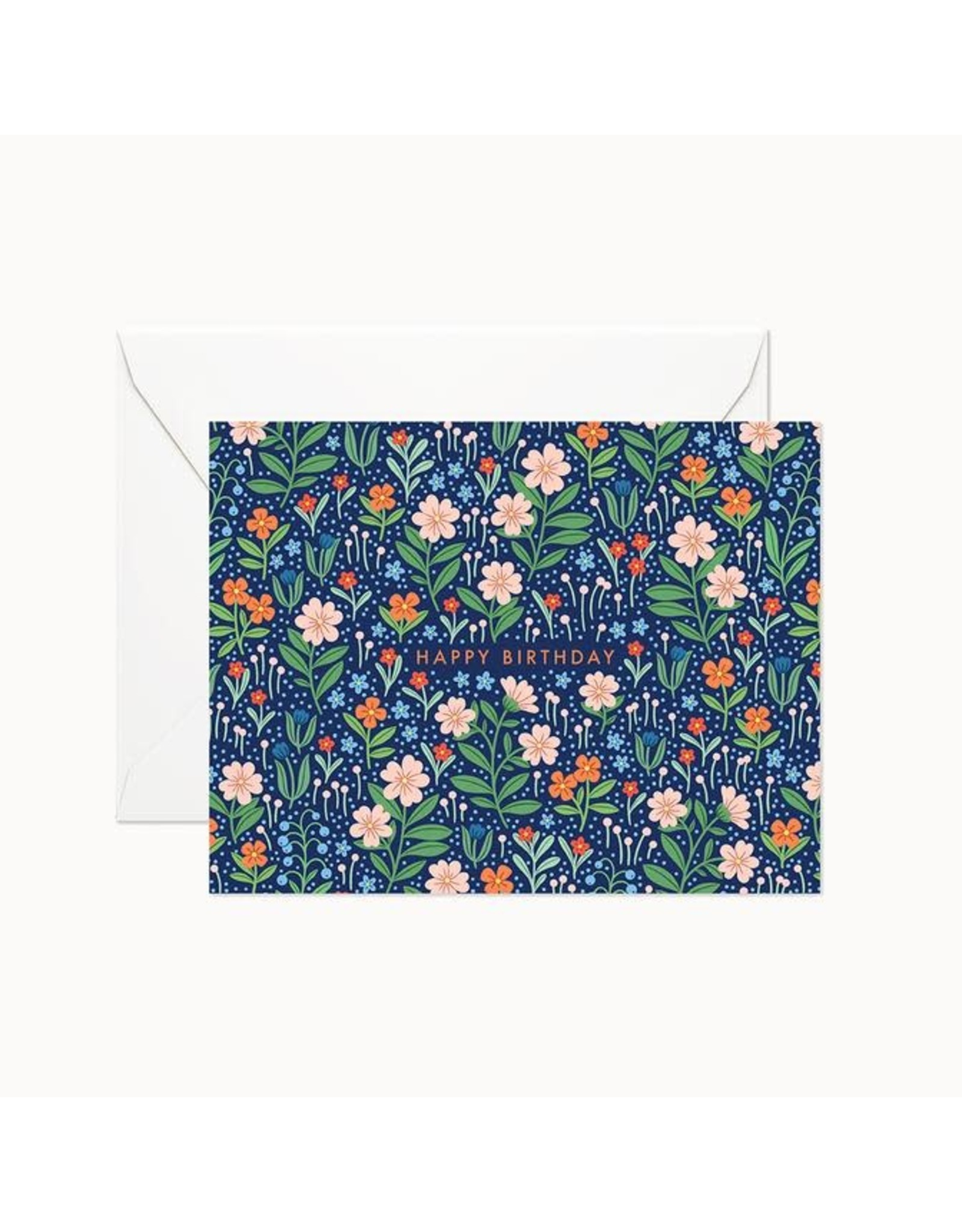 Linden Paper Co. Sweet Fields Birthday Card   Set of 8