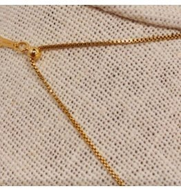 "Jewelry By Amanda 18"" Gold Box Chain"