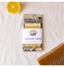 Mooshki Made 3 Pack 'Pebble Beach'  Smalls Wax Wraps